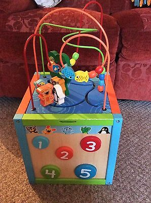 Elc Early Learning Centre Large Wooden Multi Play Activity Cube Toy,educational
