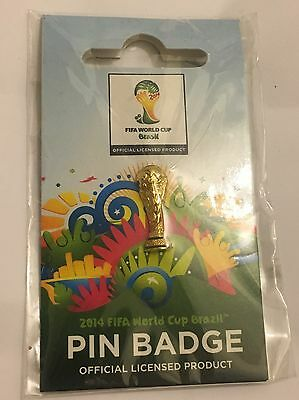 FIFA World Cup Trophy Official Pin Badge 2014 World Cup Brazil