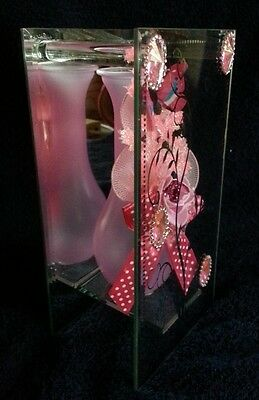 Gorgeous Mirrored Glass Pink Vase!!