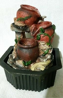 Indoor Water Fountain, Absolutely Gorgeous & Brilliantly Detailed Stone Pots!!