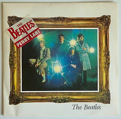 """The Beatles - Strawberry Fields Forever / Penny Lane 7"""" - 1987 French Parlophone"""