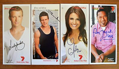 4 **RARE** Home And Away fan cards HAND SIGNED  - Lot 1