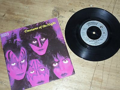 """Kiss Creatures Of The Night 7"""" Single 45 Excellent"""