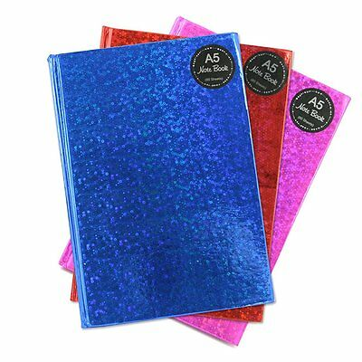 A5 Hardback Notebook Tallon Holographic Note Book Journal Student Writing Pad