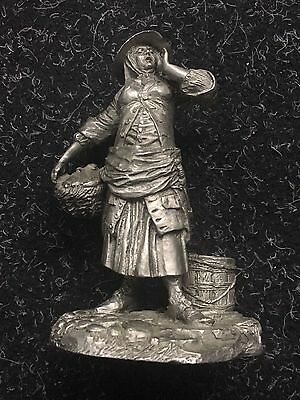 Franklin Mint Cries Of London Pewter Figure - The Fishwoman