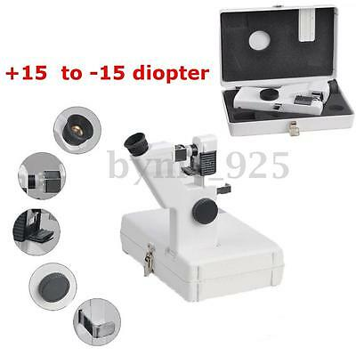 Portable Lensometer Optical Lensmeter +15 to -15 Diopter Power By 2AA Batteries