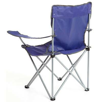 2x (Two) Eurohike Blue Folding Chair Blue Drink Holder Camping Fishing Carry Bag