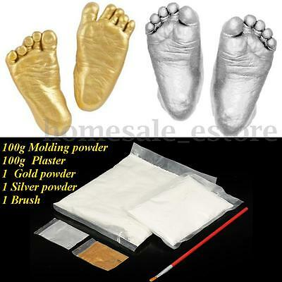 3D Baby Hand & Foot Plaster Handprints Footprints Casting Mini Set Keepsake Gift