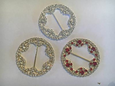 DIY BROWBANDS - 50mm 3 Row CuLoop Rings 3 Colours - QUALITY BLING