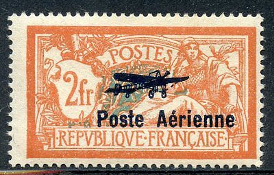 Stamp / Timbre France Neuf Poste Aerienne N° 1 * Merson Surcharge Cote + 250 €