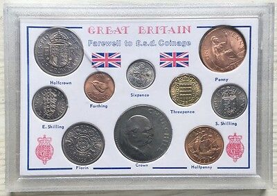 Fair well To Pound Shilling Coinage- Unc Set