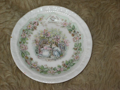 Royal Doulton Brambly Hedge Plate Summer