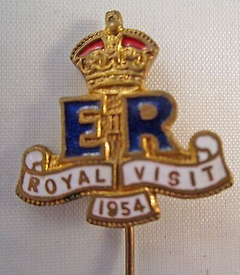 Stunning Commemorative Pin For Royal Visit To Australia In 1954