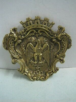 Antique bronze Masonic ashtray with the five quinas of Portugal very rare