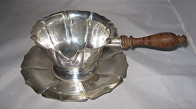 Ard Deco Sterling Silver Richard Dimes 514 Sauce Boat & Under Plate