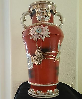 """1895 Antique vase hand painted10"""" tall"""