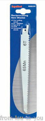 """Pack of 3 reciprocating saw blades 8"""" 200 mm for wood - Universal Shank"""