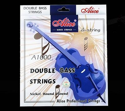 Alice Double Bass String Set 1/2-3/4 Scale, GDAE strings Nickel Round Wound NEW