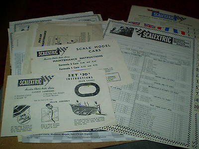 Quantity Scalextric Model Slot Cars Instructions  Excellent For Age