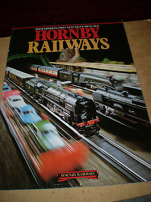 HORNBY MODEL RAILWAYS TOY CATALOGUE 1983 29th EDITION EXCELLENT FOR AGE