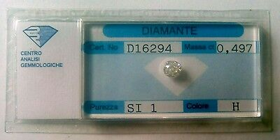 70% sconto!! Diamante naturale old cut cushion - In blister ct. 0.497 H SI1