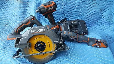 Ridgid Hyper 18V Lithium Ion 3 Tool Kit With One, 4.0 Battery And One Charger