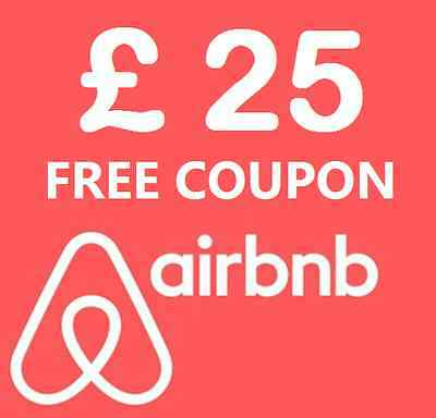 £25 discount on your first AirBnB booking