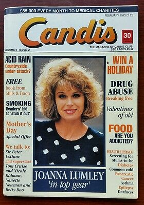 Candis Magazine February 1993 Vol 8 Issue 2 featuring Joanna Lumley