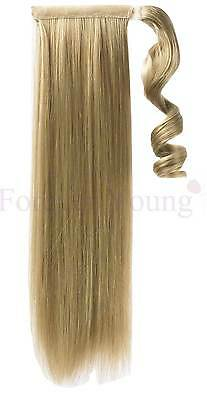 Ash & Bleach Blonde Clip In Wrap Around Ponytail Hair Extension Piece