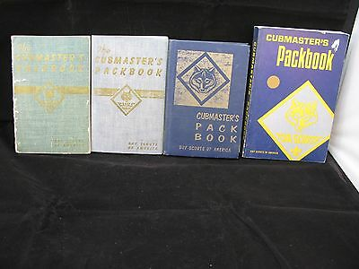 Boy Scout-Lot of 4 Cubmasters Packbooks-1/1950, 6/1943, 10/1954, 5/1976