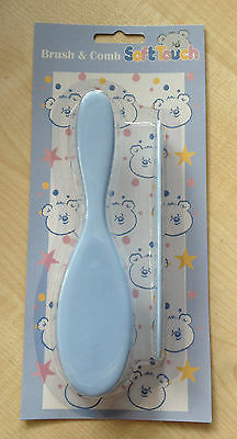 Baby Hair Brush & Comb Set in BLUE,Soft & Gentle for Babies & Toddler UK SELLER.