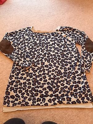 Mamas And Papas Leopard Print Jumper Maternity 12