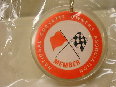 Vintage Keychain Corvette Association Member New In Package Car