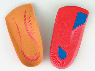 Vasyli Orthothic Red High density 3/4 lengh Heat Mouldable best lowest price new
