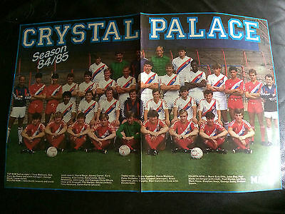 Team Group Photo Poster  - Crystal Palace 1984-85 Issued By Match