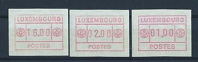 D115361 ATM Postage Labels MNH Luxembourg