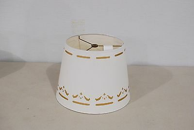 Coleman Reproduction Parchment Shade with Gold Design
