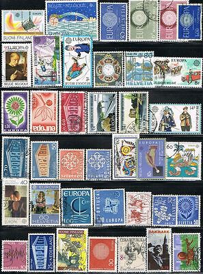 Thematics. 'Europa'. Mixed selection of 39 used stamps