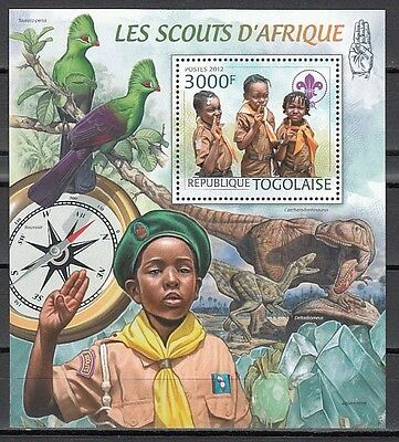 * Togo, 2012 issue. African Scouts s/sheet. Dino in design.