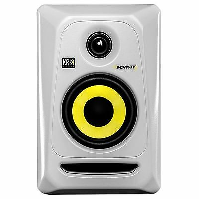 KRK Rokit RP4 G3 Single 4 Inch Active Studio Monitor In White