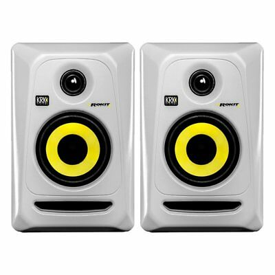 KRK Rokit RP4 G3 White Pair 4 Inch Active Studio Monitors