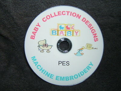 8000 + BABY pes machine embroidery designs on cd / dvd disc