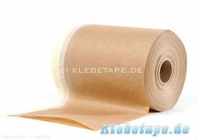Paper Masking tape 300mm x 20 m Crepe paper - adhesive tape with added on paper