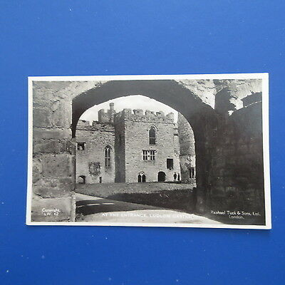 Old Postcard of at the Entrance, Ludlow Castle.