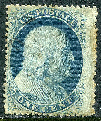 US Lot 2893 US Postage 1857 Scott A20 24 Type V 3 Cents Blue Franklin Stamp