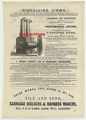 1860 Pictorial Advert Phantasmagoria Magic Lantern Chromatrope Dissolving Views