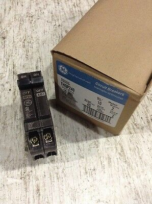 GE GENERAL ELECTRIC THQP240 NEW CIRCUIT BREAKER 2 POLE 40 AMP 240V (Box Of 10)
