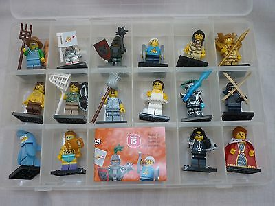 Lego 71011 Series 15 Minifigures - Full Complete set of 16 in Case