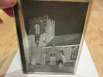 3x Photo Photographic Dry Plate Victorian Negative Clifton Church Bedfordshire
