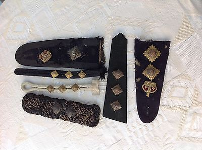 British Army officer's tunic shoulder straps. Victorian, George V.